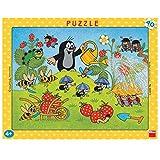 Dinotoys 322011 Hochwertiger Schreibtisch Puzzle mit Rahmen;Kleines Maulwurf-Motiv, 40 Stück