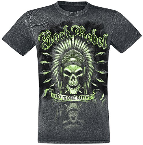 Rock Rebel by EMP No More Rules T-Shirt schwarz Schwarz