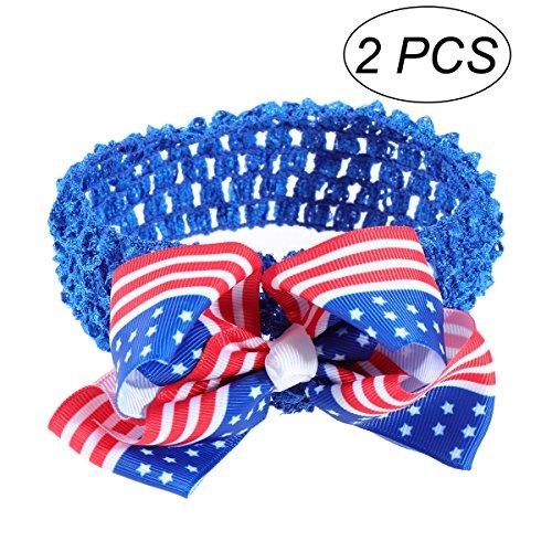 Nationalen Schätzen Amerikas (BESTOYARD USA Amerika Flagge Stirnband Kinder Baby Mädchen Bowknot Haarband für Unabhängigkeitstag 4. Juli National Day Kinder Gift2 Pcs (blau))