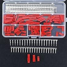 hilitchi 300pcs (50set) 2,54mm JST SYP 2-Pin Hembra & Macho Rojo Kit Conector Plug Vivienda Crimp Terminal