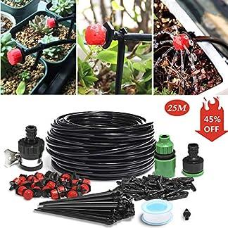 61axkWkP PL. SS324  - king do way Conjuntos de Riego, Kits de Riego por Goteo Sistema Automático DIY para Irrigación Bruma Jardín Invernadero Jardín y Césped