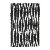 IKEA Skoven - Teppich Langflor, grau, schwarz - 133x195 cm