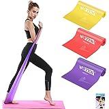 Elastici Fitness (Set di 3), Bande Elastiche Fitness con 3 Livelli di Resistenza, Fasce Elastiche fitness Ideale per Pilates,