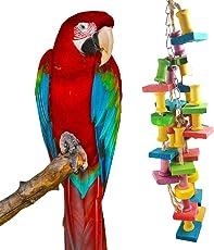 EJY Farbe Papageienspielzeug Chew Spielzeug, Hölzerner Papagei Spielzeug kauen Toys
