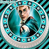 pretagliato commestibile glassa topper per torta – 19,1 cm rotondo Harry Potter con Star Border