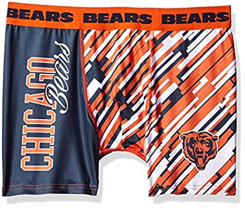 Chicago Bears NFL Wordmark Compression Boxer Shorts Underwear