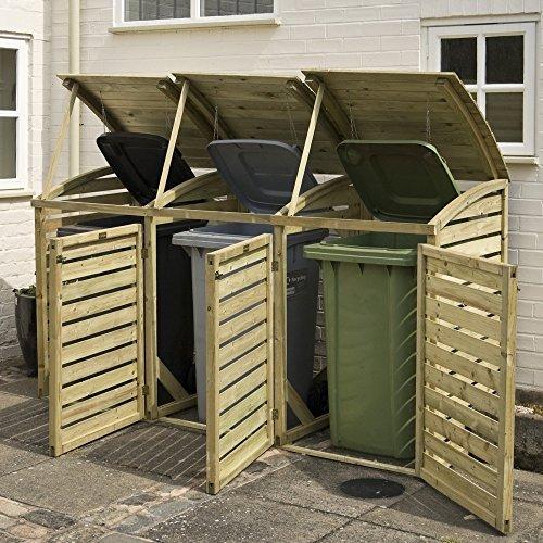 Rowlinson bintrpl1Triple Mülltonnenbox–Natur - 2