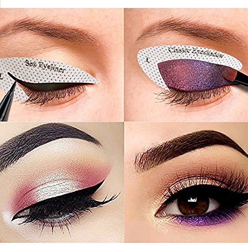 64 Pairs Eyeliner Stencil Stickers Smoky Eyeshadow Shaper Eyeshadow Guide Template Profession Classic Beauty Quickly Makeup Guide Template