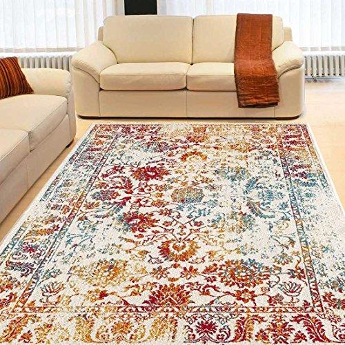 UNAMOURDETAPIS Tapis Salon Oriental DESTRUCTURE Multicolore 160 x 230 cm  Tapis de Salon Moderne Design