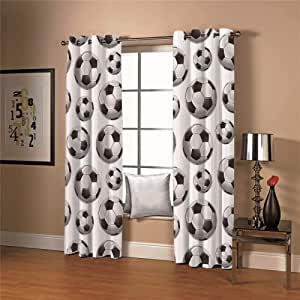 LIGAHUI Kids Blackout Curtains Black and white New York City 2x W46x L54 inch Thermal Insulated Window Treatment Solid Eyelet Curtain for Living Bedroom//Room Darkening /& Noise Reduicing