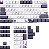 XIAOSHA 113 Touches Violettes Datang Shengshi OEM Clavier Keycaps, Clavier Mécanique Keycaps Chinois GK61 GK64