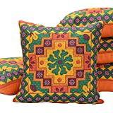 #7: The Purple Tree Printed Rajasthani Art Cushion Covers 16x16 inches ( 5 pieces ), Cotton Cushion Covers