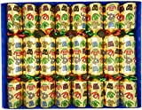 8 Christmas Jumper Family Christmas Crackers in Gold by Crackers Ltd (Cat F1)