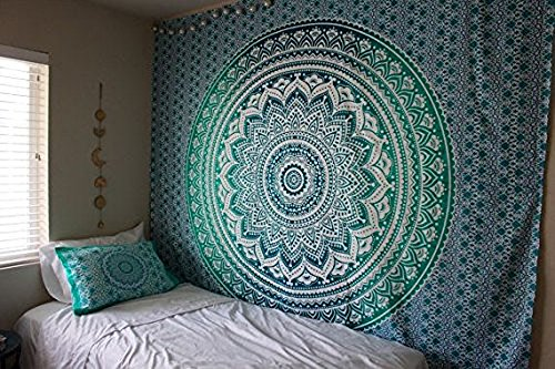 raajsee Indisch Wandteppich Mandala Ombre Tapestry Hippie Psychedelic Wandbehang,Elefant Boho...