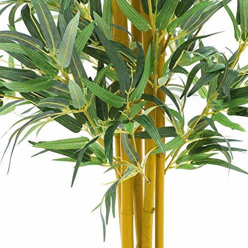 artplants Künstlicher Bambus mit vielen Natur-Bambusrohren, 180 cm – Deko Baum/Kunstbambus