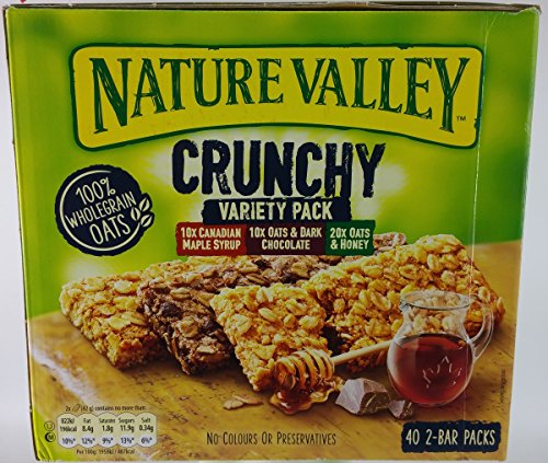 Nature Valley Crunchy Granola Bars Variety Pack 40 Bars x42gm Big Value pack Test