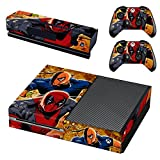 Deadpool PVC Skin Sticker For Xbox One Console + 2 Pcs Controller Skin + Kinect Skin Sticker Set for Xbox One