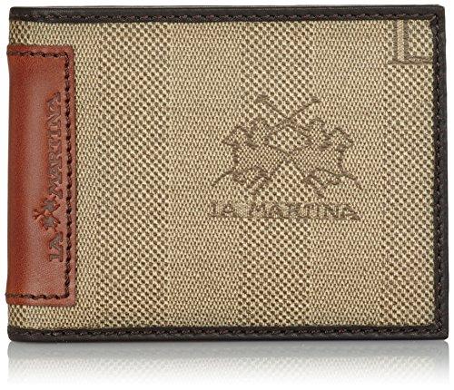 La Martina Portafoglio con Portadocumenti e Carte di Credito, Marrone Scuro