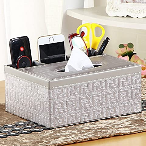 Récepteur de télécommande Fort, carré de peau à la personne, multi-fonction boîte de papier, papier fort, serviettes en papier fort, 20*16.5.R,9,5 cm