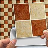 DXHH 18 STÜCKE Retro Muster Fliesen Aufkleber Dekorative Aufkleber Kreative Rutschfeste Selbstklebende Wandtattoos Floor Sticke
