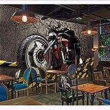 Zxdxd Papiers peints muraux en 3D vintage Autocollants de motos Fond d'écran de moto Papier peint à la maison Papiers peints en soie-400X280cm