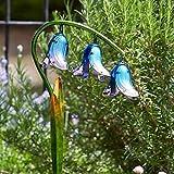 garden mile groß solar betrieben Glas Blumen mit LED Lichter handbemalt Gartenblumen Solar Garten Beleuchtung - Glockenblumen