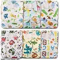 LittleBloom Bebé Pañales Lavables Pañal Reutilizable Insertos, Cierre: Hook-Loop, Set De 6
