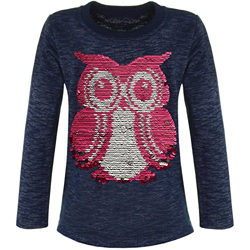 emoji t shirt wendepailletten BEZLIT Mädchen Langarmshirt Wende-Pailletten 21496 Blau Größe 104