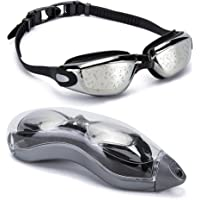 OYMI Swim Goggles No Leaking Silicone with Protection Case Adjustable for Men Women Youth Kids Unisex Triathlon Swim…