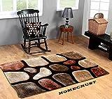 #9: HOMECRUST 4D Shaggy Fur Carpets for Home Living Room/Rugs - 4 x 6 Feet
