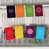 Chakra Magnetische Lesezeichen mit Zeigern (Inhalt in französischer Sprache)–Information, farbenfroh und schön., Informationen über die Chakren auf beiden Seiten der Halterung (2,7cm x 4cm gefaltet Größe) 8Stück