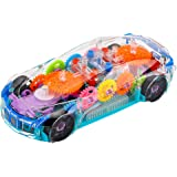 VGRASSP Gear Display Transparent Mechanical Car Toy for Kids - 360 Degree Rotating Concept Racing with 3D Flashing LED…