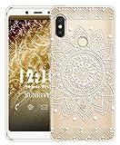 Sunrive Für Xiaomi Redmi Note 5 Hülle Silikon, Transparent Handyhülle Schutzhülle Etui Case für Xiaomi Redmi Note 5(TPU Blume Weiße)+Gratis Universal Eingabestift