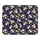 Mouse Pads Abstract Liberty with Flowers Small Colorful Multicolor Black Modern Floral The Elegant Folk Tiny Mouse Pad for notebooks,Desktop Computers mats 7.08 (L)x 8.66 (W) inch Office Supplies