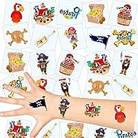 German-Trendseller ® 36 x tatouages temporaires de pirates┃tatouages ephémères┃l'anniversaire d'enfant┃petit cadeau┃ la fête de pirates