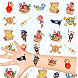 German Trendseller Piraten Kinder Tattoos - Set ┃ Neu ┃ Piraten Party ┃ Kindergeburtstag ┃ Mitgebsel ┃36 Tattoos
