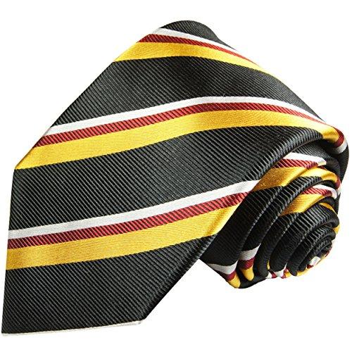 L'or noir rouge cravate rayé, 100% cravate en soie ( longueur 165cm )