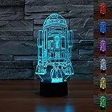 SmartEra® Star Wars Force Awaken 7 Farbwechsel Roboter R2D2 Touch-3D optische Täuschung LED-Schreibtischlampe