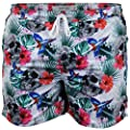 Mens Swimming Shorts Brave Soul Floral Pineapple Hawaii Beach Print Summer New