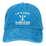 Funny I'm Here to Feed Your Ass Not Kiss It Adult Unisex Cap