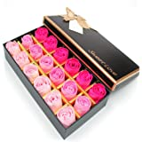 Txyk 18 Pezzi Creativo Regalo Fiore del Sapone Artificiali Rose Fiori di Sapone per la Festa di Compleanno San Valentino(Rosa