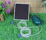 Solar Power Oxygen Sauerstoffpumpe Teichbelüfter Sauerstoff für Tag und Nacht !!!
