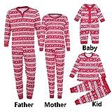 Riou Weihnachten Set Baby Kleidung Set Pullover Outfits T Shirt Tops Hosen Pyjama Weihnachten Set Familie Kleidung Weihnachten Festlich Familien Sleepwear Outfit (M, Mom)