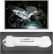 AUTOTRUMP 10cm Neon Bike Light White for TVS APACHE RTR 180CC