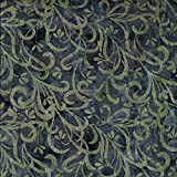 Fabric Freedom Batik-Stoff mit grauem Blüten-Design, 100%