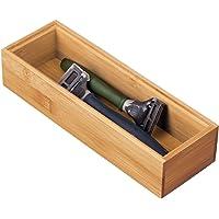 mDesign boîte de Rangement en Bambou pour Salle de Bains – Boite tiroir Pratique – Rangement Salle de Bain de qualité…
