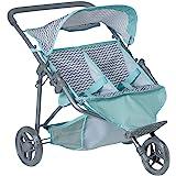 عربة دمى الاطفال المزدوجة بتصميم زيك زاك من ادورا