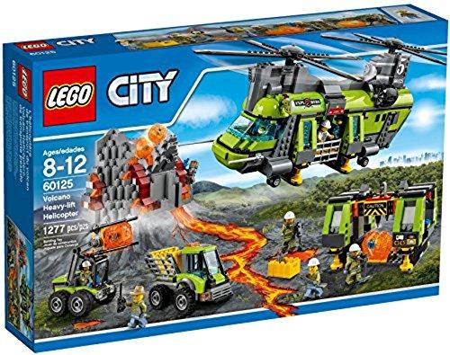 LEGO City 60125 - Vulkan-Schwerlasthelikopter (Party City Von Nähe In Der)