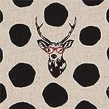 echino Fabrics Naturfarbenes Wachstuch mit Schwarzen