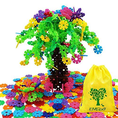 emido-building-toy-500-piece-interlocking-plastic-disc-set-snowflakes-connect-foster-childrens-creat